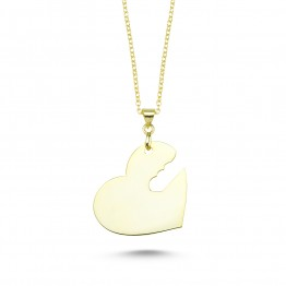 Keyed Heart Plate Necklace