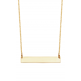 Flat Bar Name Necklace