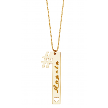 #1 Bar  Name  Necklace