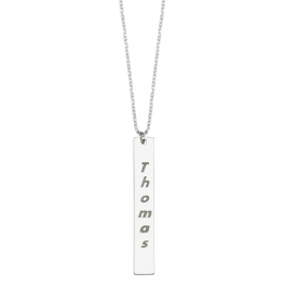 Vertical Bar, Name Necklace