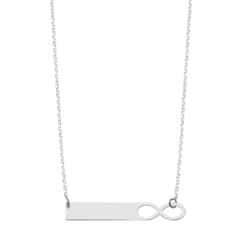 Infinity Bar  Name  Necklace