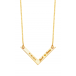 V Bar  Name  Necklace