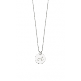 Initial Name Disc Necklace