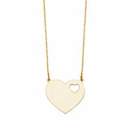 Heart  in  Heart  Name  Necklace
