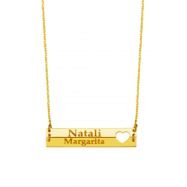 Double  Bar  Name Necklace