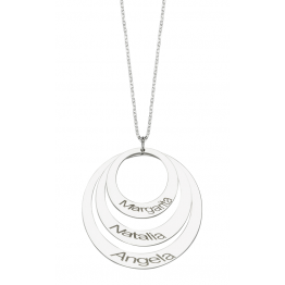 Triple Ring Name Necklace